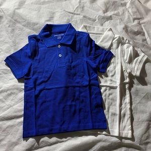 Amazon Essentials Size 4-5 Blue And White Polo